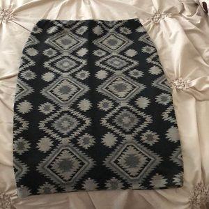 Tribal pencil skirt